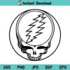 Grateful Dead Stealie Outline with Bolt SVG, Grateful Dead SVG, Grateful Dead Steal Your Face SVG, PNG, DXF, PNG, DXF, Cricut, Cut File, Clipart, Silhouette