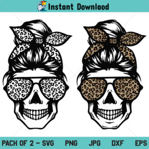 Leopard Mom Skull SVG, Leopard Mom Skull SVG File, Leopard Mom Skull PNG, Leopard Mom Skull DXF, Leopard Mom Skull Cricut, Leopard Mom Skull Cut File, Leopard Mom Skull Clipart, Leopard Mom Skull Silhouette