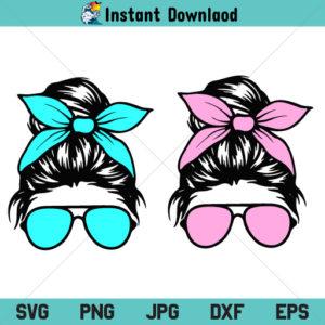 Messy Bun SVG, Sunglasses SVG, Mom Life SVG, Messy Bun Mom SVG, Momlife SVG, Messy Bun Sunglasses SVG, PNG, DXF, Cricut, Cut File, Clipart, Silhouette