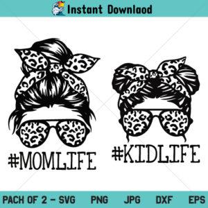 Mom Life Kid Life SVG, Mom Life SVG, Leopard Mom SVG, Messy Bun Mom SVG, Momlife SVG, Mom Life Kid Life PNG, Mom Life Kid Life