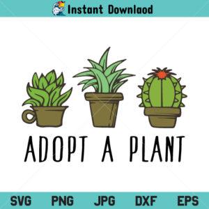 Adopt A Plant SVG, Adopt A Plant SVG File, Adopt A Plant, Cactus Adopt A Plant SVG, Succulent Indoor Garden SVG