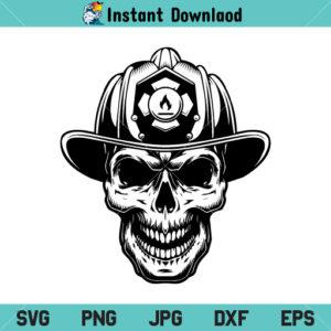 Firefighter Skull SVG, Firefighter Skull SVG File, Firefighter Skull Logo, Fire Skull Helmet, Fireman Fighting, SVG, PNG, DXF, Cricut, Cut File