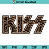 Kiss Band Leopard SVG, Kiss Logo Leopard SVG, Kiss RocknRoll Rock Music Leopard Band SVG, PNG, DXF, Cricut, Cut File, Clipart, Silhouette