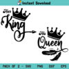 Her King His Queen SVG, King and Queen SVG, Couple SVG Shirt, Her King SVG, His Queen SVG, Valentine Shirt, Her King His Queen SVG File, Husband, Wife, SVG, PNG, DXF, Cricut, Cut File