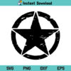 Distressed Army Star SVG, Distressed Army Star SVG Cut File, Armed Forces SVG, Military Star SVG, Army Star SVG, PNG, DXF, EPS, Cricut, Cut File