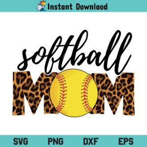 Softball Mom Leopard SVG, Softball Mom Leopard SVG File, Softball Mom SVG, Leopard SVG, Mom SVG, Softball Mom Leopard, SVG, PNG, DXF, Cricut, Cut File