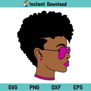Afro Woman SVG, Black Woman SVG, Afro Woman SVG File, Black Woman SVG File, Afro Girl SVG, Afro Diva SVG, African American Queen SVG, African Girl SVG, Afro Woman Face SVG, Afro Woman, Black Woman, SVG, PNG, Cricut, Cut File