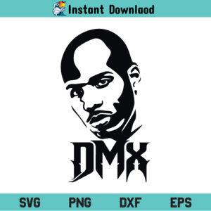DMX Rapper SVG, DMX Hip Hop Rapper SVG, DMX SVG, DMX Face SVG, DMX Shirt SVG, Dmx Logo SVG, Rest in Peace DMX SVG, DMX, SVG, PNG, DXF