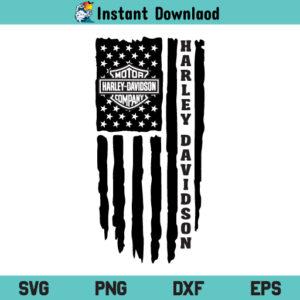 Harley Davidson Flag SVG, Harley Davidson US Flag SVG, Harley Davidson American Flag SVG, Harley Davidson SVG, US Flag SVG, American Flag SVG, Distressed Flag SVG, PNG, Cricut, Cut File, Clipart