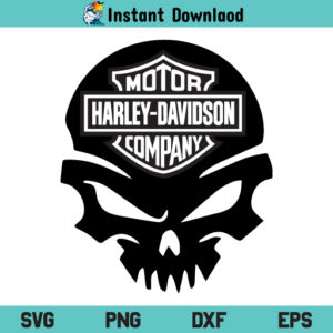 Harley Davidson Skull SVG, Harley Davidson Skull SVG File, Harley Davidson Skull SVG Design, Harley Davidson SVG, Skull SVG, Skull Harley Davidson SVG, PNG, DXF, Cricut, Cut File