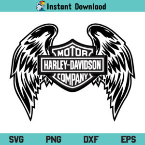 Harley Davidson Wings SVG, Harley Davidson Wings SVG File, Wings Harley Davidson SVG, Harley Davidson SVG, Harley Davidson Motorcycle Logo SVG, Wings SVG, PNG, DXF, Cricut, Cut File, Clipart