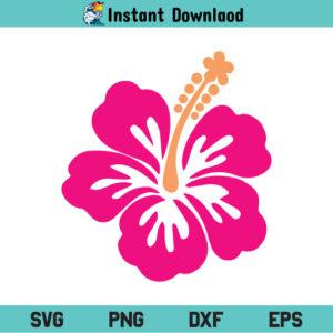 Hibiscus SVG, Hibiscus SVG Cut File, Hawaiian Flower SVG, Hibiscus Hawaiian Flower SVG, Flower SVG, Hibiscus, SVG, PNG, DXF, Cricut, Cut File