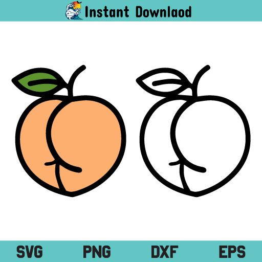 Peach Ass SVG, Peach Ass SVG File, Peach Ass SVG Design, Peach Butt SVG, Peach Butt SVG File, Peach Butt SVG Design, Peach Ass, Peach Butt, SVG, PNG, DXF, Cricut, Cut File