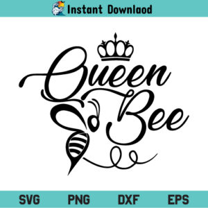Queen Bee SVG, Queen Bee SVG File, Queen Bee SVG Design, Queen SVG, Bee SVG, Queen Bee SVG Cut Files, Queen Bee, SVG, PNG, DXF, Cricut