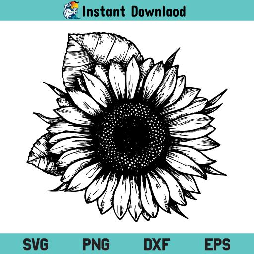 Sunflower SVG Flower, Sunflower SVG, Flower SVG, Sunflower SVG Cut File, Sunflower SVG File, Sunflower, SVG, PNG, DXF, Cricut, Cut File