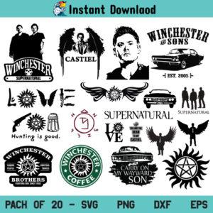 Supernatural SVG Bundle, Supernatural SVG, Supernatural SVG File, Supernatural SVG Design, Supernatural Love SVG, Supernatural Symbol SVG, Carry On My Wayward Son SVG, Supernatural, SVG, PNG, DXF, Cricut, Cut File