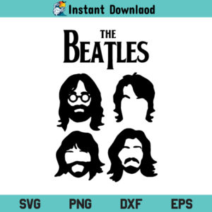 The Beatles Music Band SVG, The Beatles SVG, Music Band SVG, The Beatles SVG, The Beatles PNG, The Beatles DXF, The Beatles Cricut, The Beatles Cut File, The Beatles Clipart
