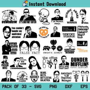 The Office SVG Bundle, The Office TV Show SVG Bundle, The Office SVG, The Office Bundle SVG, Paper Company SVG, Schrute Farms SVG, The Office, SVG, PNG, DXF, Cricut, Cut File