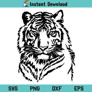 Tiger SVG, Tiger SVG File, Tiger SVG Design, Tiger Head SVG, Tiger Head SVG File, Tiger Face SVG, Tiger Face SVG File, Tiger, SVG, PNG, DXF, Cricut, Cut File, Clipart, Silhouette