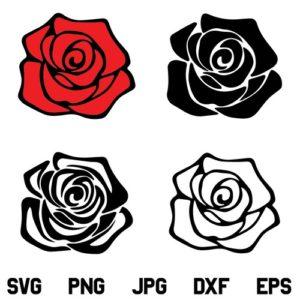 Red Rose Flower SVG, Rose SVG, Red Rose SVG Bundle, Rose Flower SVG File, Red, SVG, PNG, DXF, Cricut, Cut File