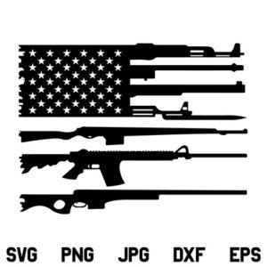 US Rifle flag SVG, American Gun Flag SVG, Guns SVG, 2nd Amendment SVG, Distressed Flag SVG, Military SVG, Gun Flag SVG, US Flag SVG, American Flag SVG, PNG, DXF, Cricut, Cut File