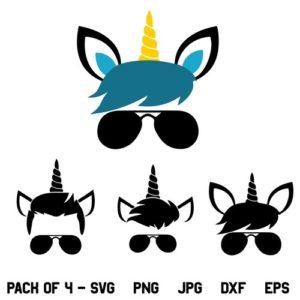 Boy Unicorn Birthday SVG, Boy Unicorn SVG, Boy Unicorn SVG Bundle, Birthday SVG, Magical Unicorn SVG, PNG, DXF, Cricut, Cut File