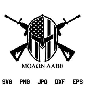 Molon Labe SVG, Molon Labe Spartan Helmet SVG, 2nd Amendment, US Flag SVG, American Flag SVG, Molon Labe, SVG, PNG, DXF, Cricut, Cut File