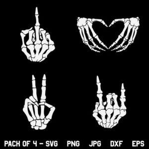 Skeleton Hands SVG, Skeleton SVG, Skeleton Middle Finger SVG, Halloween SVG, Cute Halloween Shirt SVG, Skull Skeleton Hand SVG, PNG, DXF, Cricut, Cut File