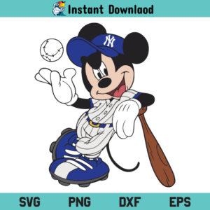 Mickey Baseball SVG, Mickey Mouse SVG, Mickey Mouse Baseball SVG, Mickey SVG, Baseball SVG