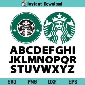 Starbucks Font SVG, Starbucks SVG, Starbucks Coffee Logo SVG, Personalised Starbucks Logo SVG, Starbucks Font