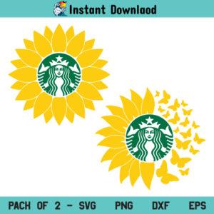 Sunflower Starbucks SVG, Sunflower Starbucks SVG File, Sunflower SVG, Flower SVG, Starbucks Logo SVG